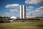 Niemeyer's Congresso Nacional was designed to represent openness to all political ideologies. It was taken over four years later by the Brazilian military dictatorship who subsequently banned all political parties for the next 21 years.