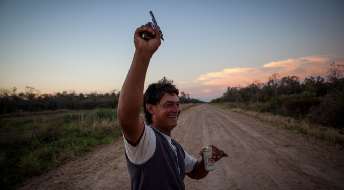 Getting wild after an incredible afternoon in the Chaco. Guns, beer, and nature.